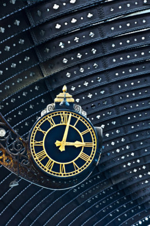 York Railway Clock Wallpaper mural